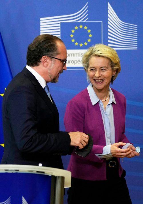 Treffen mit Ursula Von der Leyen. AFP