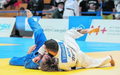 Vache Adamyan wurde Staatsmeister und seine Schwester Tatevik Minasyan (l.) Vizemeisterin in der U-16-Klasse.Judo Austria