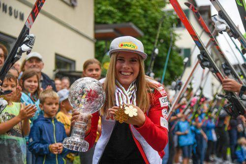 Zweimal Gold, eine Silberne bei der WM in Cortina und Slalom-Kristall: Katharina Liensberger hätte sich Platz eins verdient.Gepa