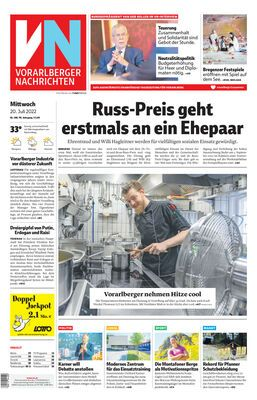 Hier geht's zum E-Paper der Vorarlberger Nachrichten